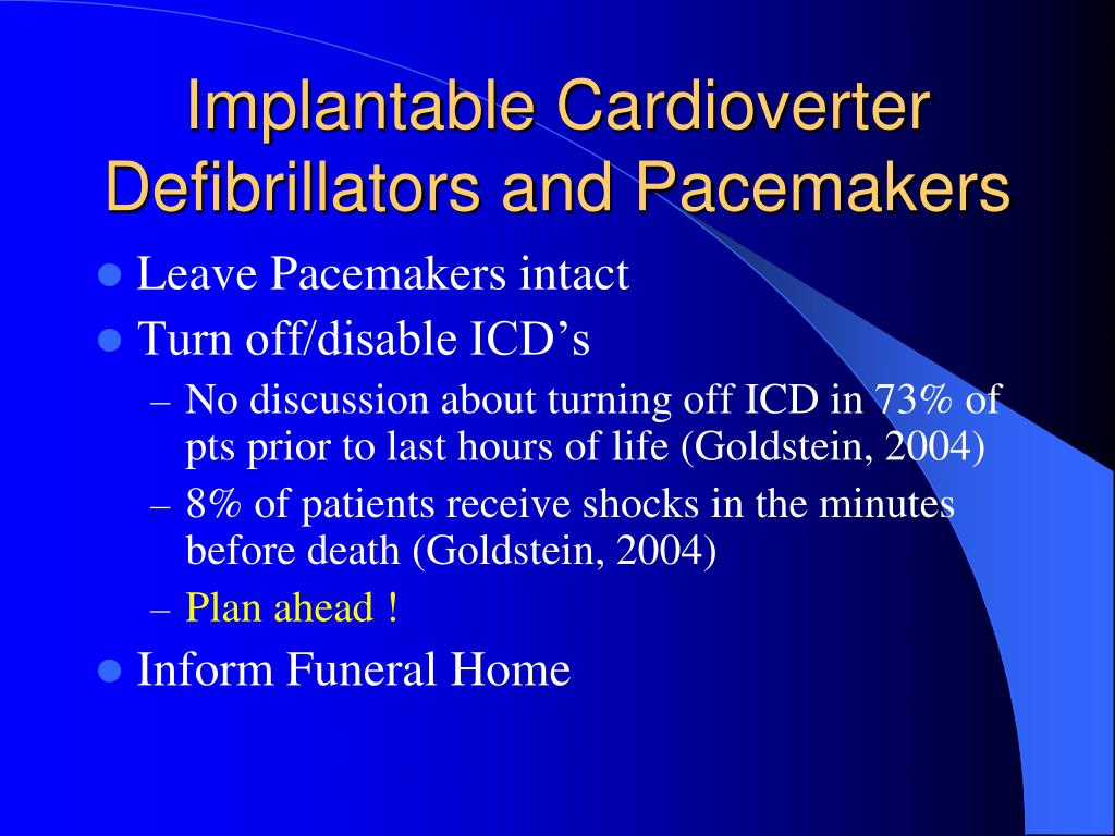 Implantable Cardioverter Defibrillators and Pacemakers