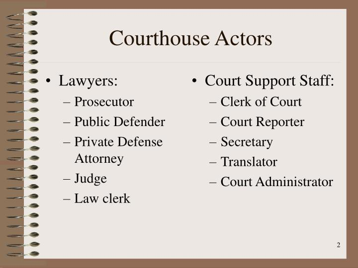Courthouse actors