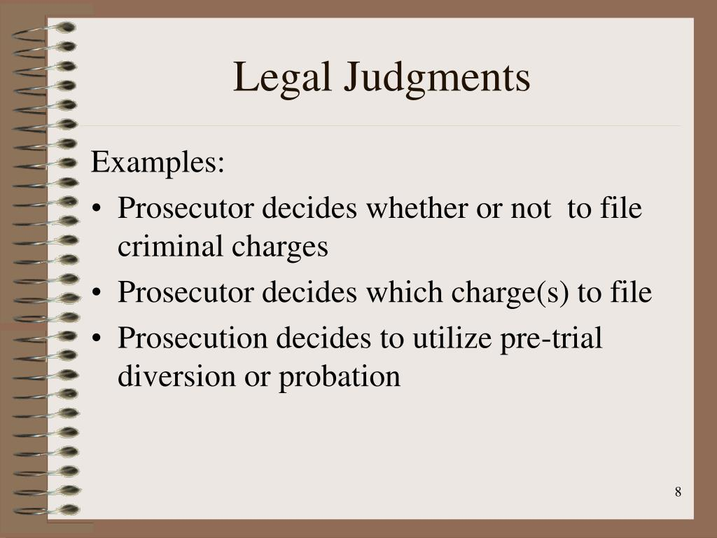 Legal Judgments