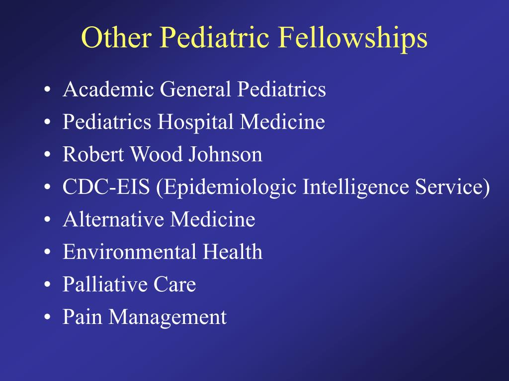 Other Pediatric Fellowships