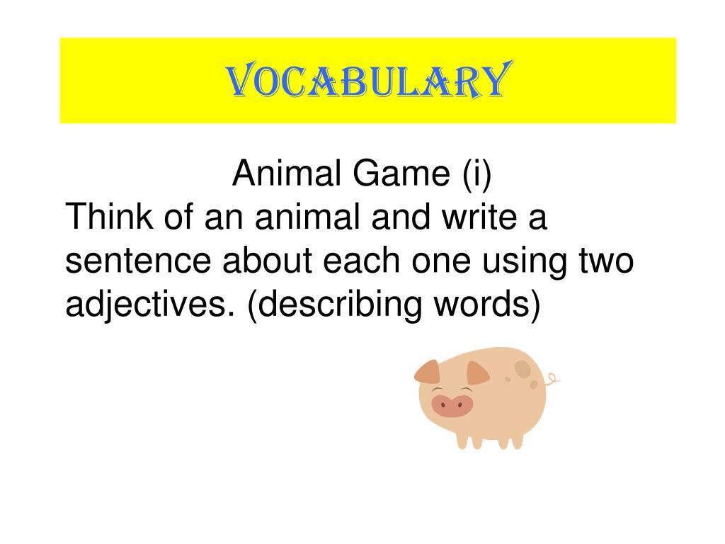 Animal Game (i)