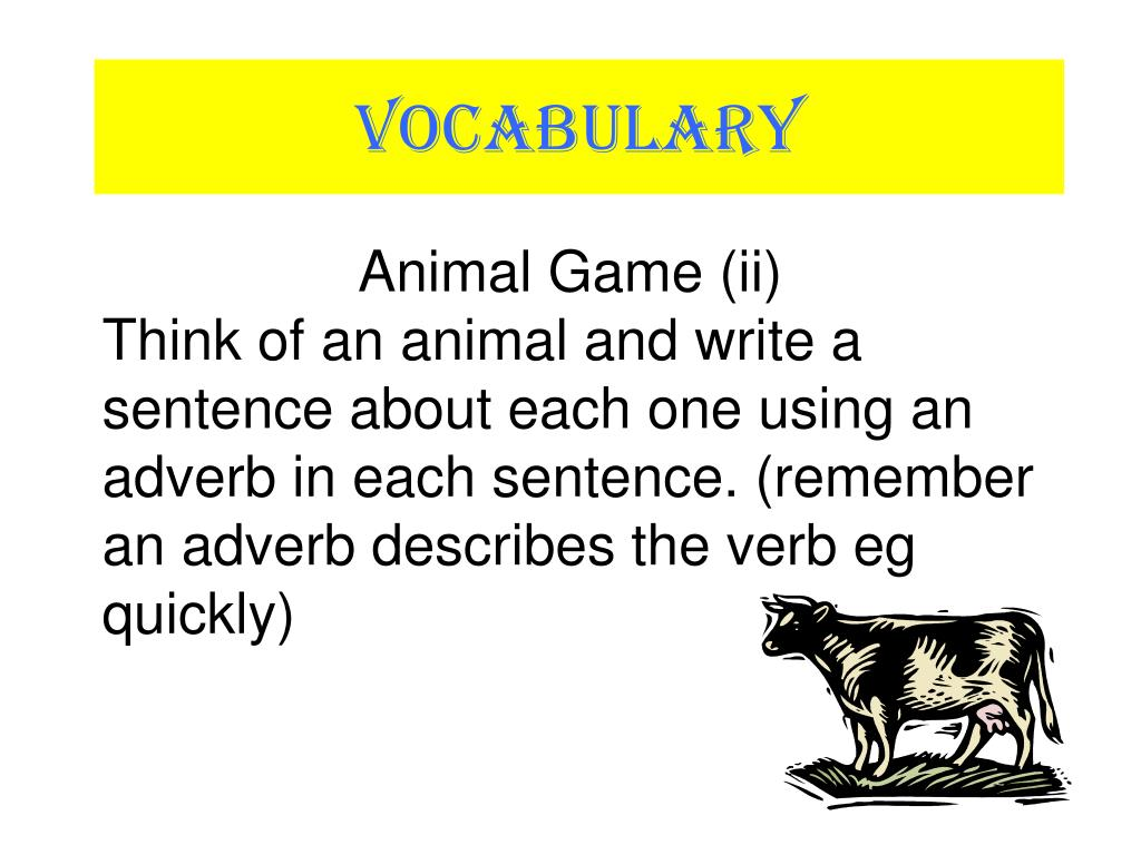 Animal Game (ii)