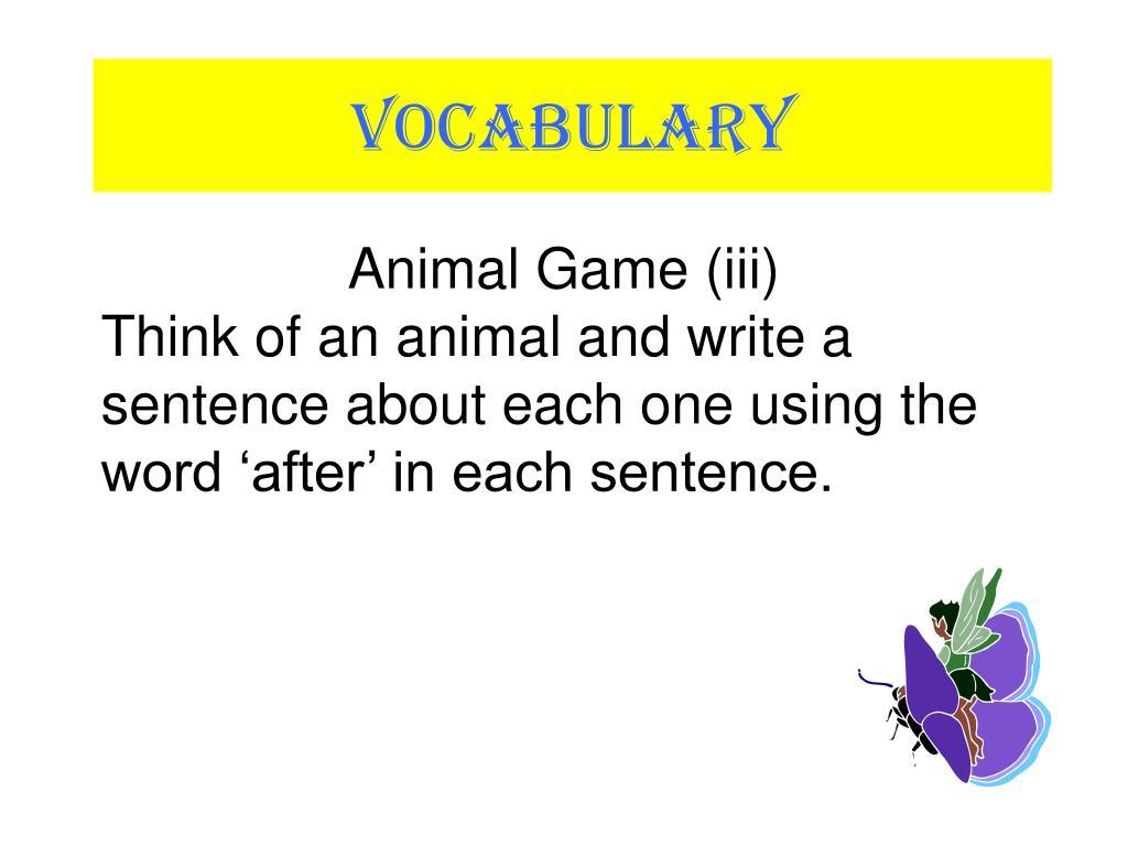 Animal Game (iii)