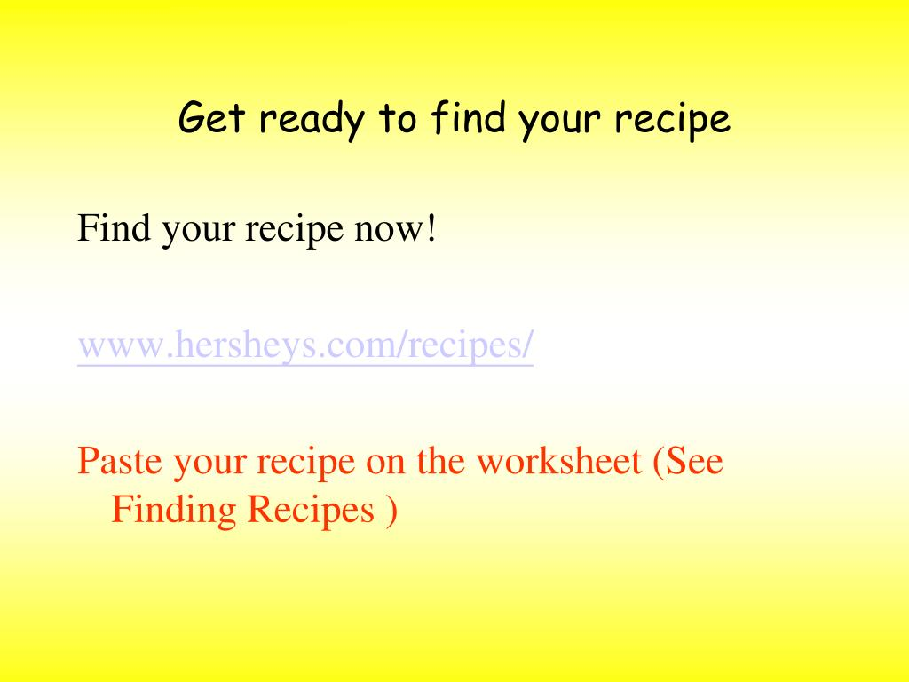 Get ready to find your recipe