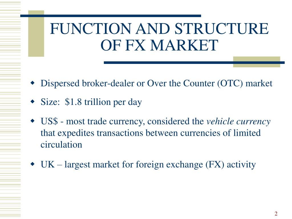 FUNCTION AND STRUCTURE OF FX MARKET