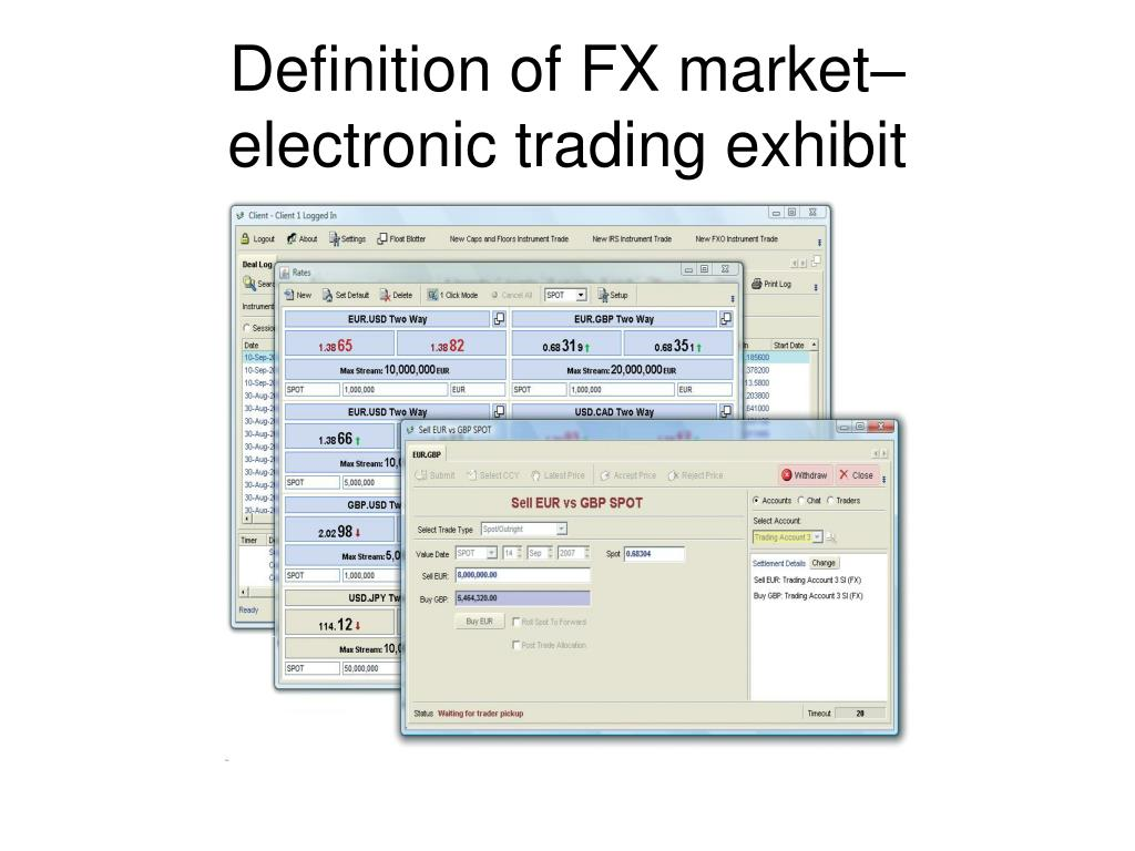 Definition of FX market–