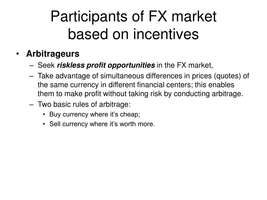 Participants of FX market