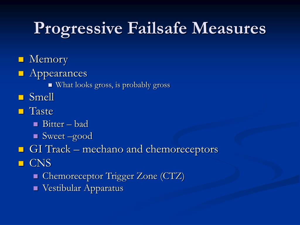 Progressive Failsafe Measures