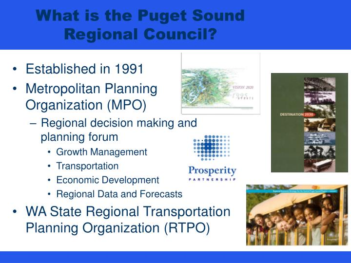 What is the puget sound regional council