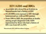 hiv aids and idus