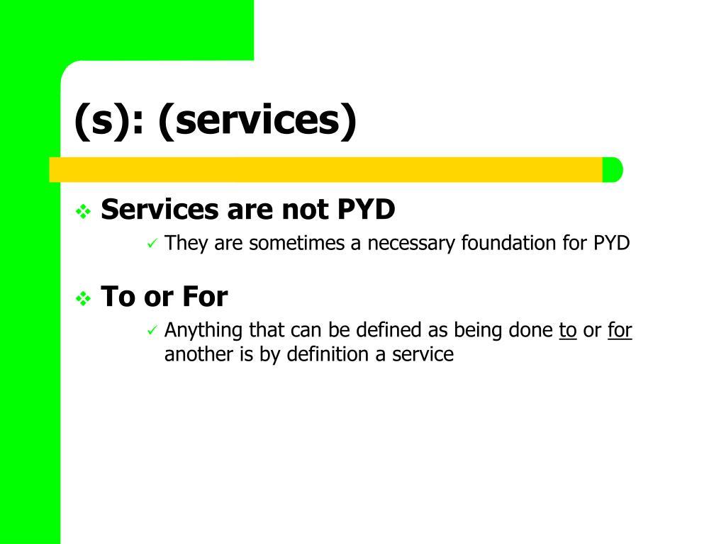 (s): (services)