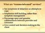 what are trauma informed services62