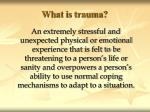 what is trauma