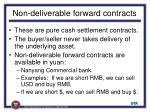 non deliverable forward contracts