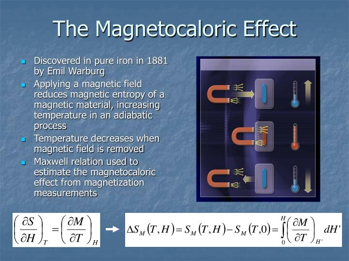 The magnetocaloric effect