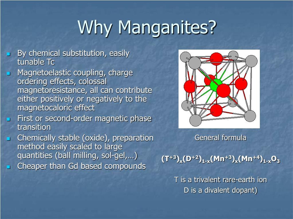 Why Manganites?