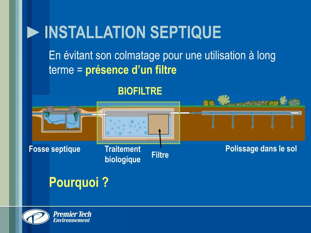 INSTALLATION SEPTIQUE