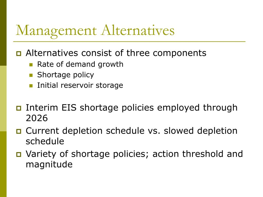 Management Alternatives