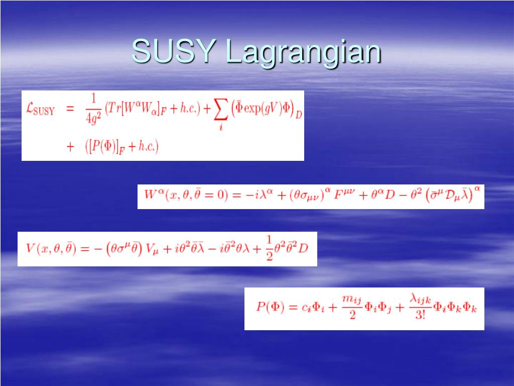 SUSY Lagrangian