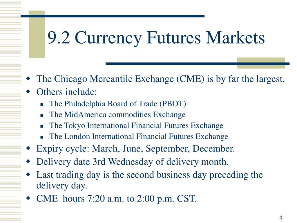 9.2 Currency Futures Markets