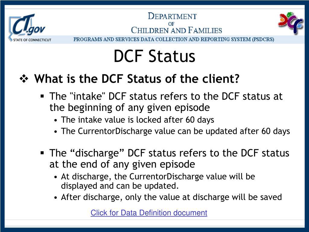 DCF Status