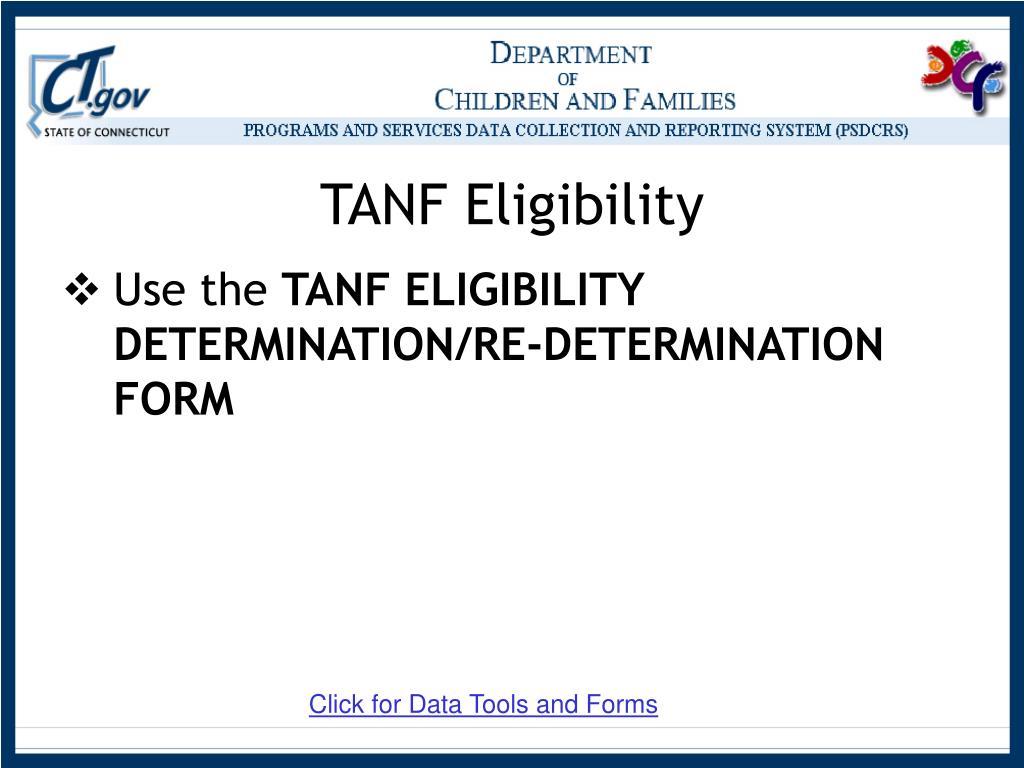 TANF Eligibility