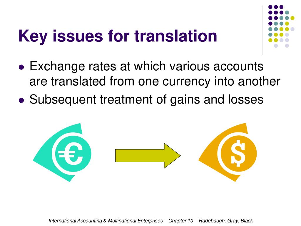 Key issues for translation