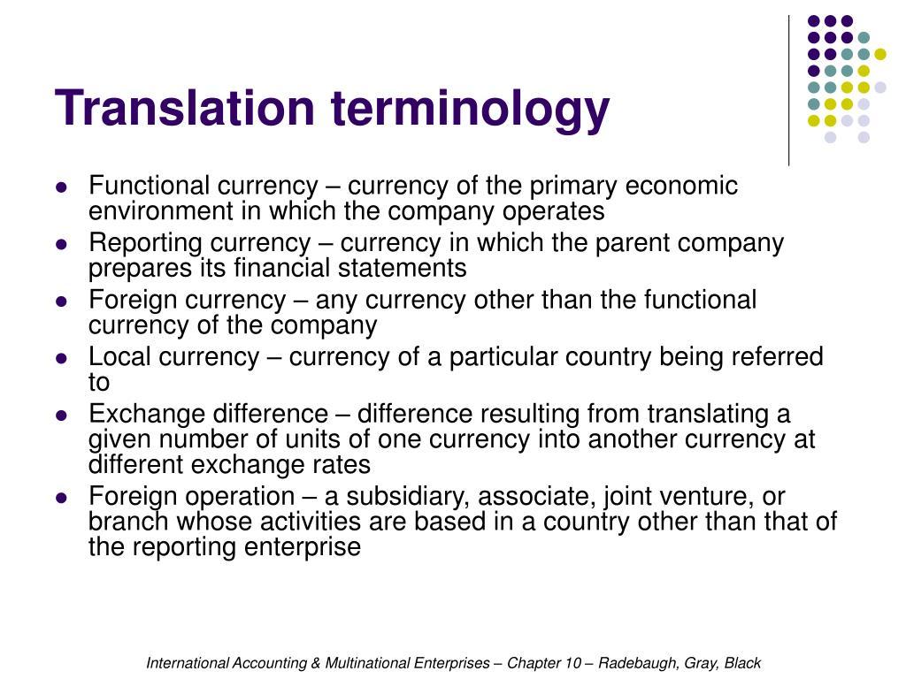Translation terminology