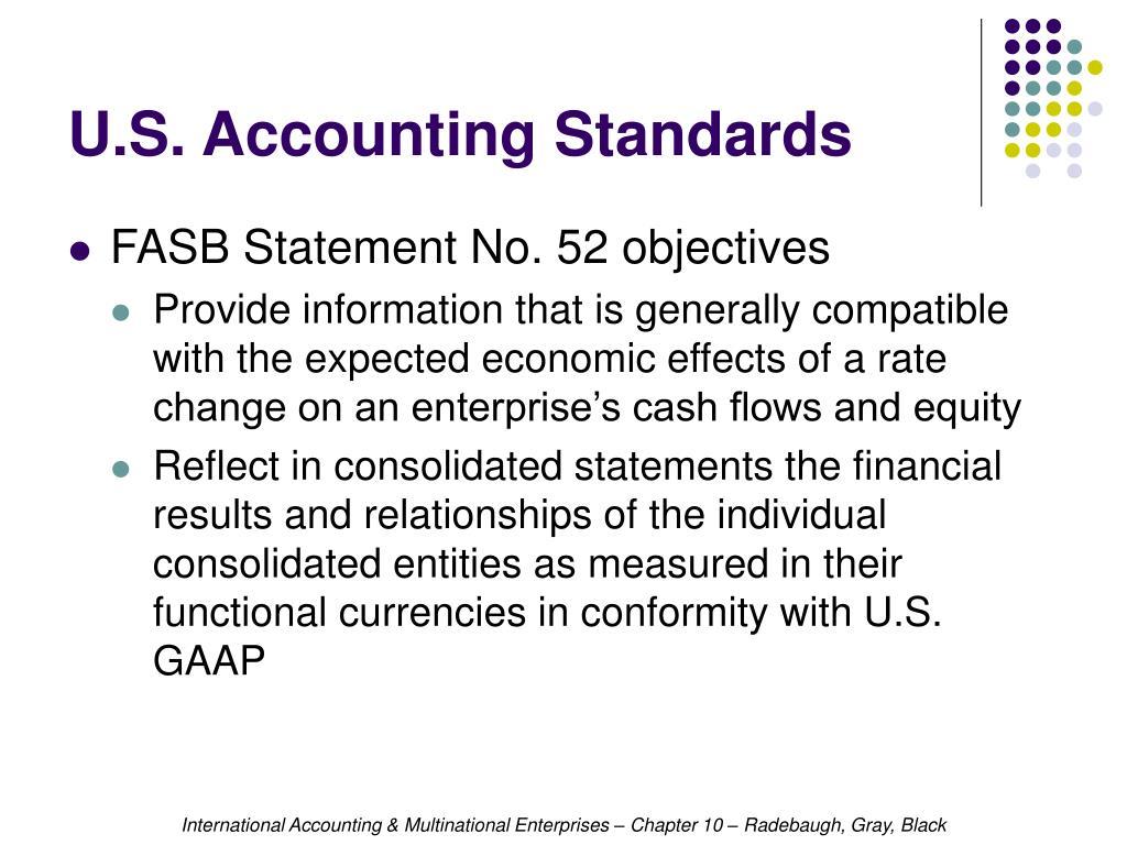 U.S. Accounting Standards