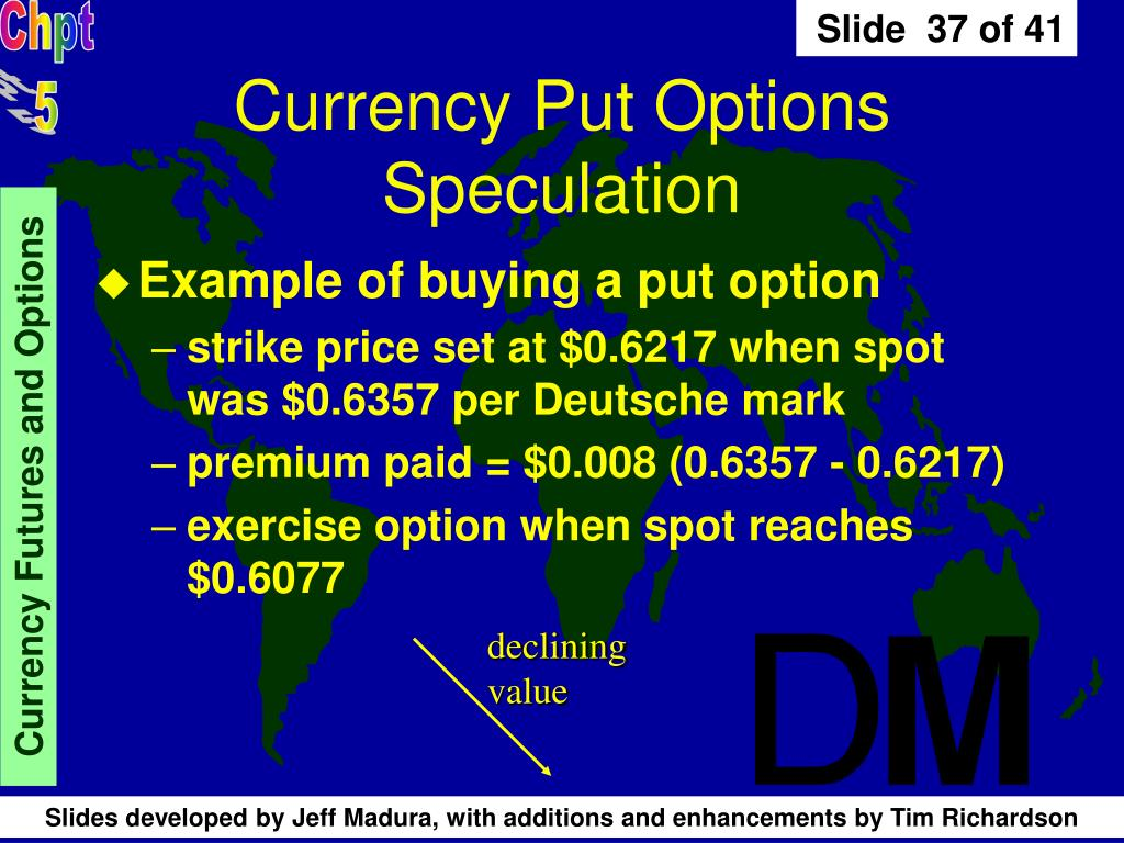 Currency Put Options