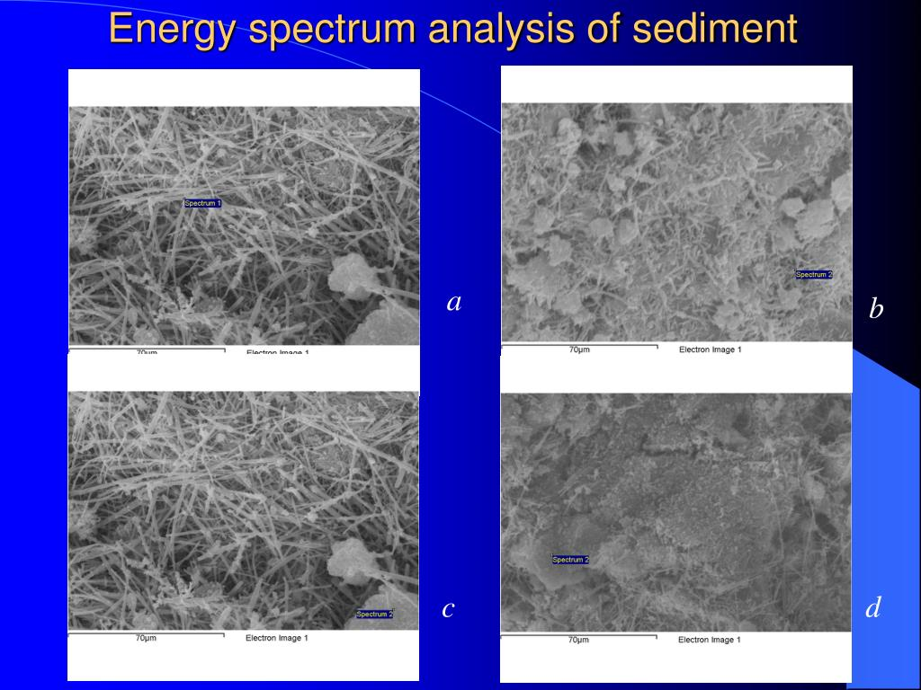 Energy spectrum analysis of sediment