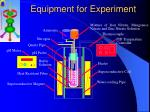 equipment for experiment