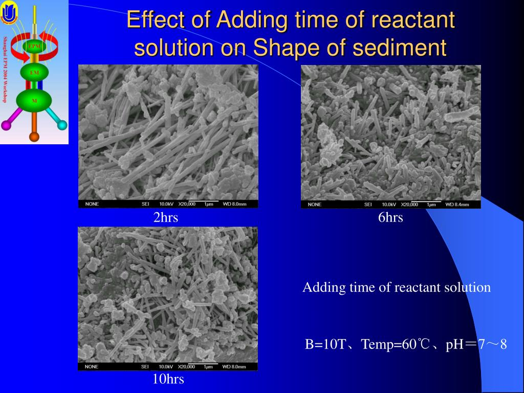 Effect of Adding time of reactant solution on Shape of sediment