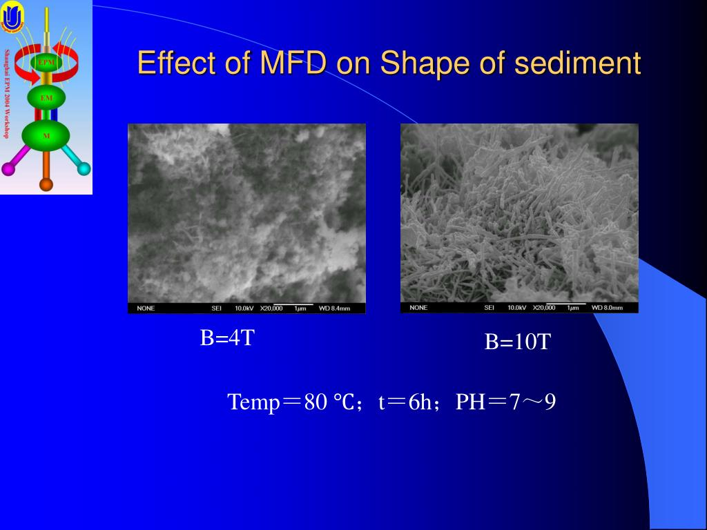 Effect of MFD on Shape of sediment