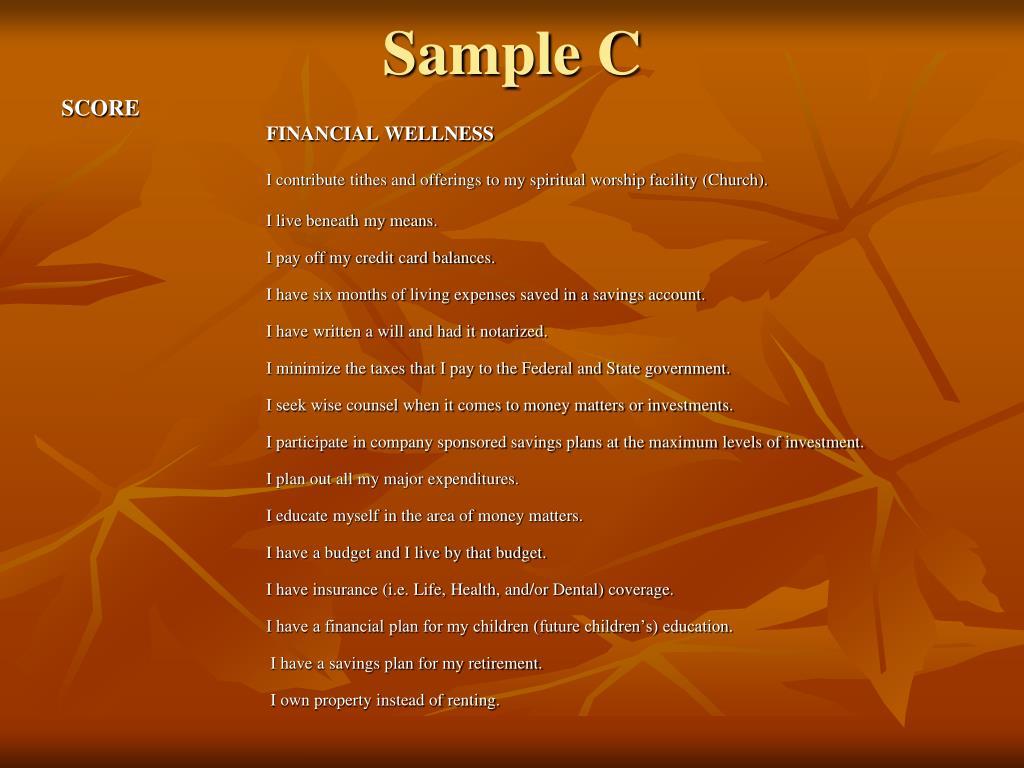Sample C