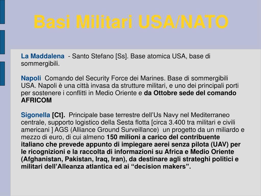 Basi Militari USA/NATO
