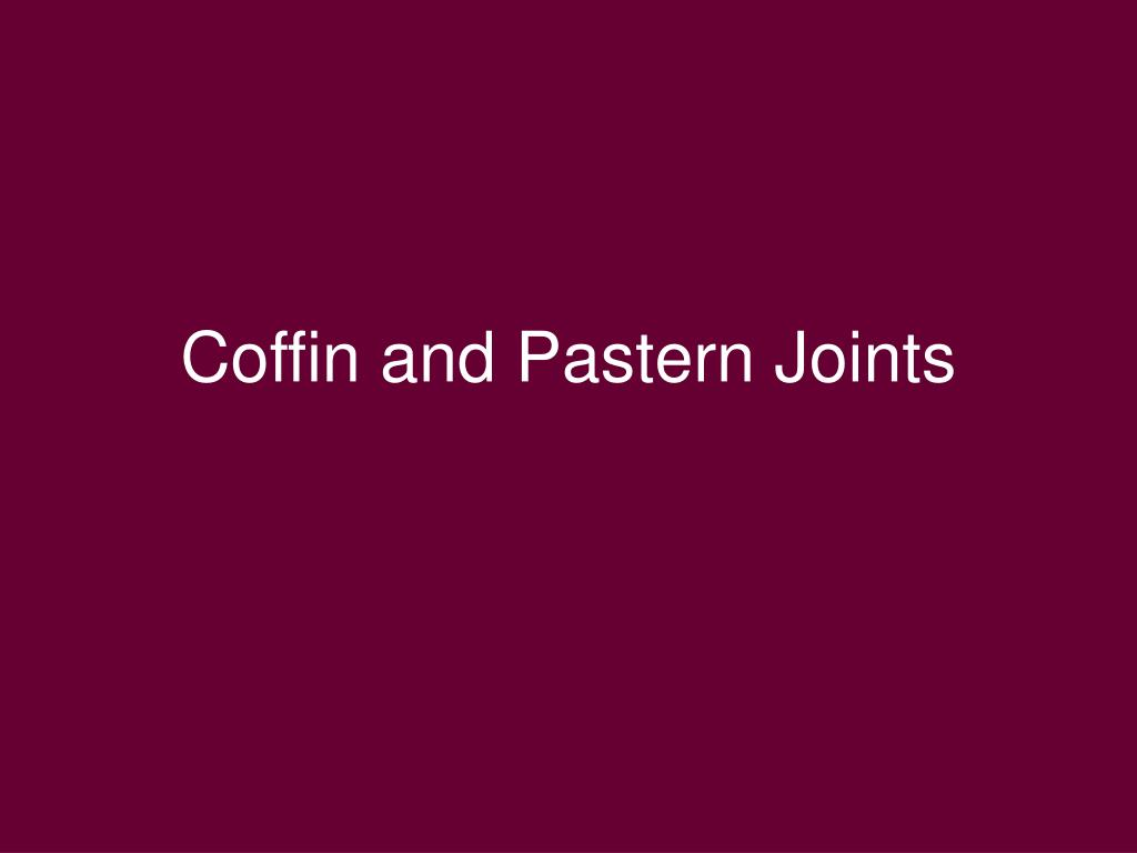 Coffin and Pastern Joints