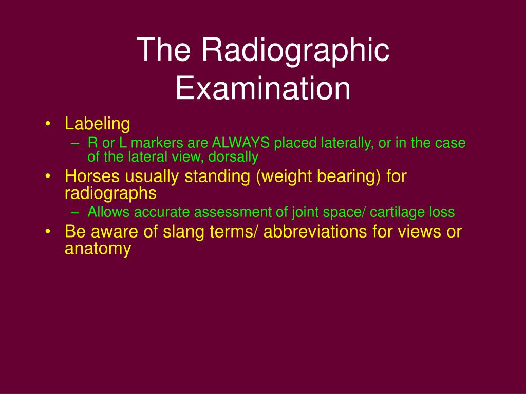The Radiographic Examination