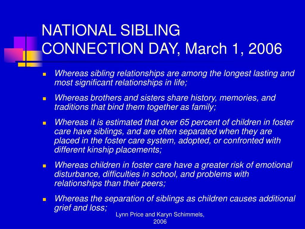 NATIONAL SIBLING
