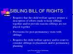 sibling bill of rights