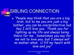 sibling connection