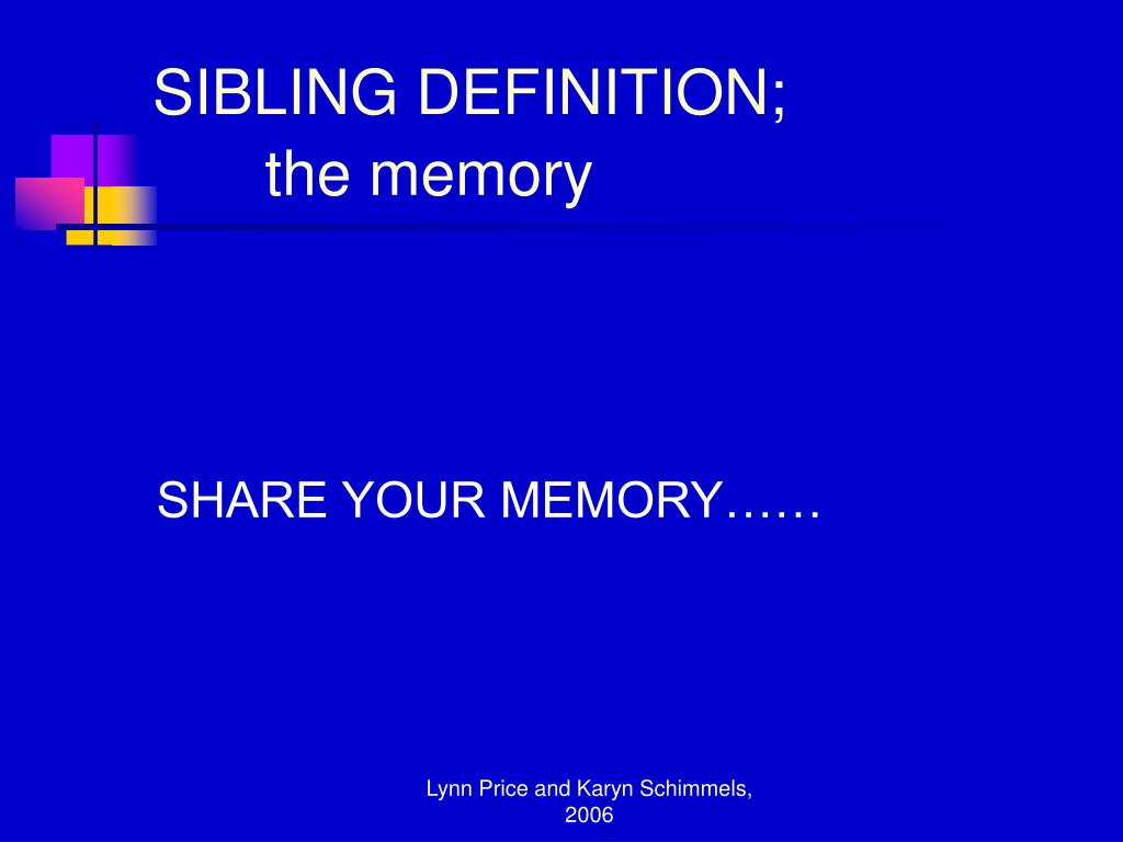 SIBLING DEFINITION;