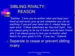 sibling rivalty reason