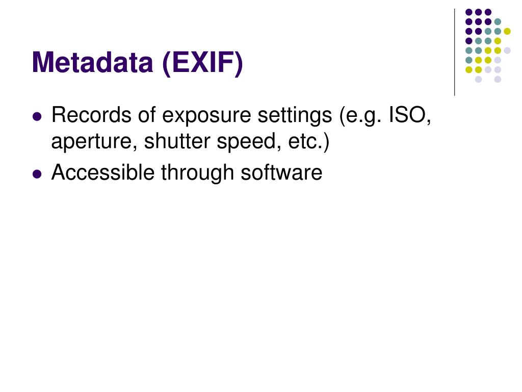 Metadata (EXIF)