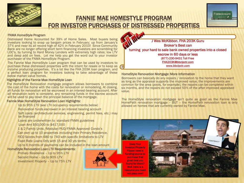 Fannie Mae HomeStyle Program