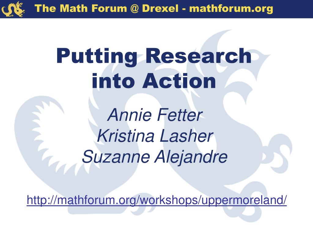 Putting Research into Action
