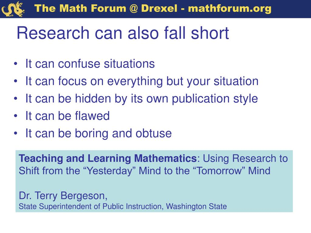 Research can also fall short