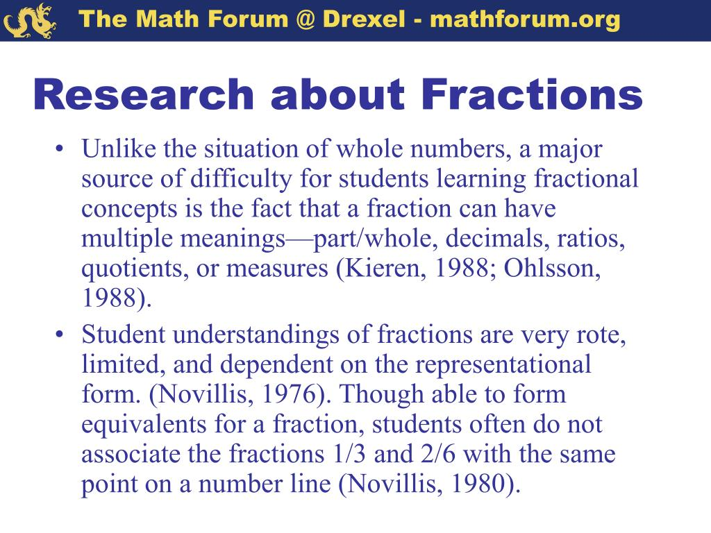 Research about Fractions
