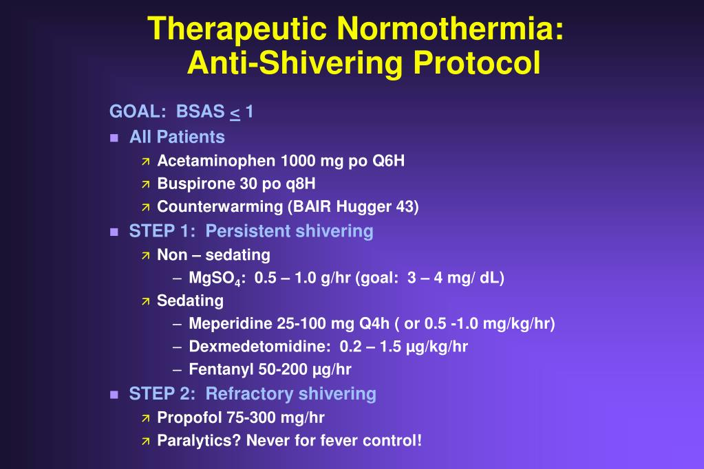 Therapeutic Normothermia: