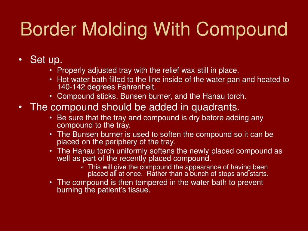 Border Molding With Compound